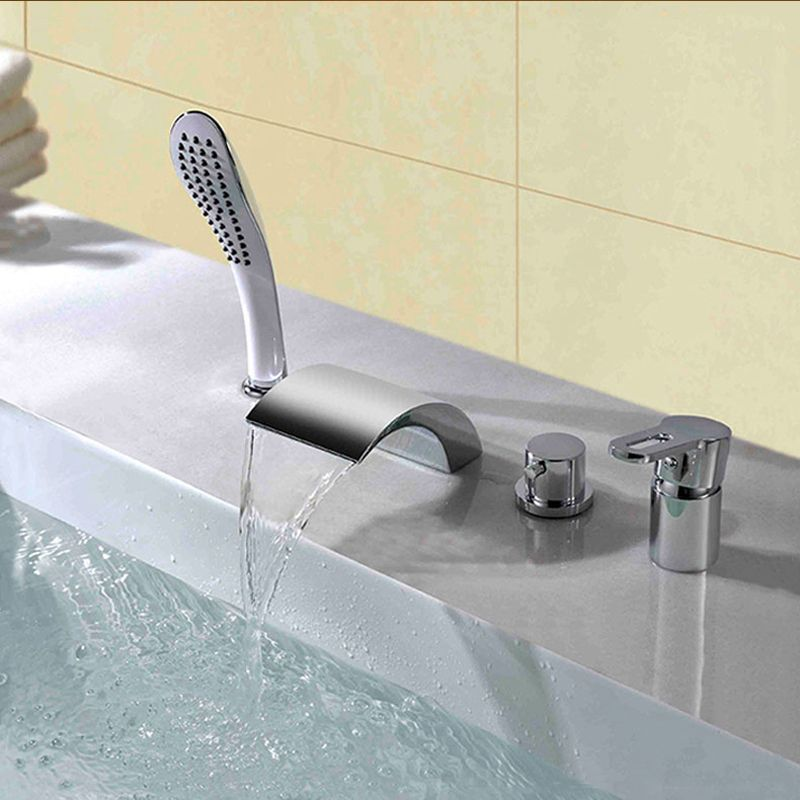 24 deck mounted bathtub faucets ideas