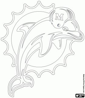 Dolphins Coloring Pages Nfl Logo Dolphins