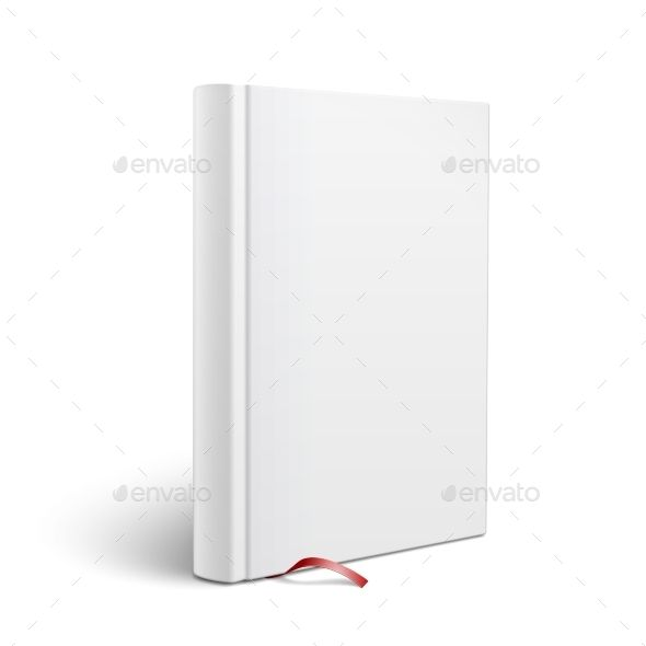 Blank Vertical Book with Bookmark Template Bookmark template - blank bookmark template