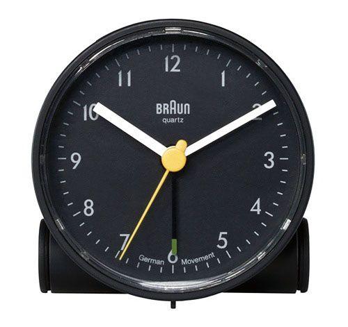 Braun Round Travel Alarm Clock Black Travel Alarm Clock Tabletop Clocks Clock