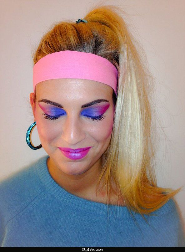 80s makeup hairstyles