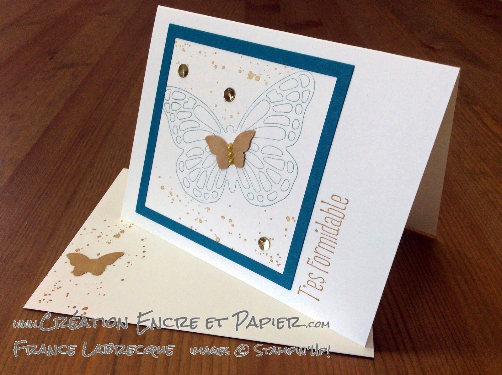 """Jeu d'étampes """"C'est parti / High Five"""" et Framelits """"Papillons / Butterfly"""" ... www.creationencreetpapier.com"""