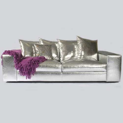 silver leather sofas silver sofa