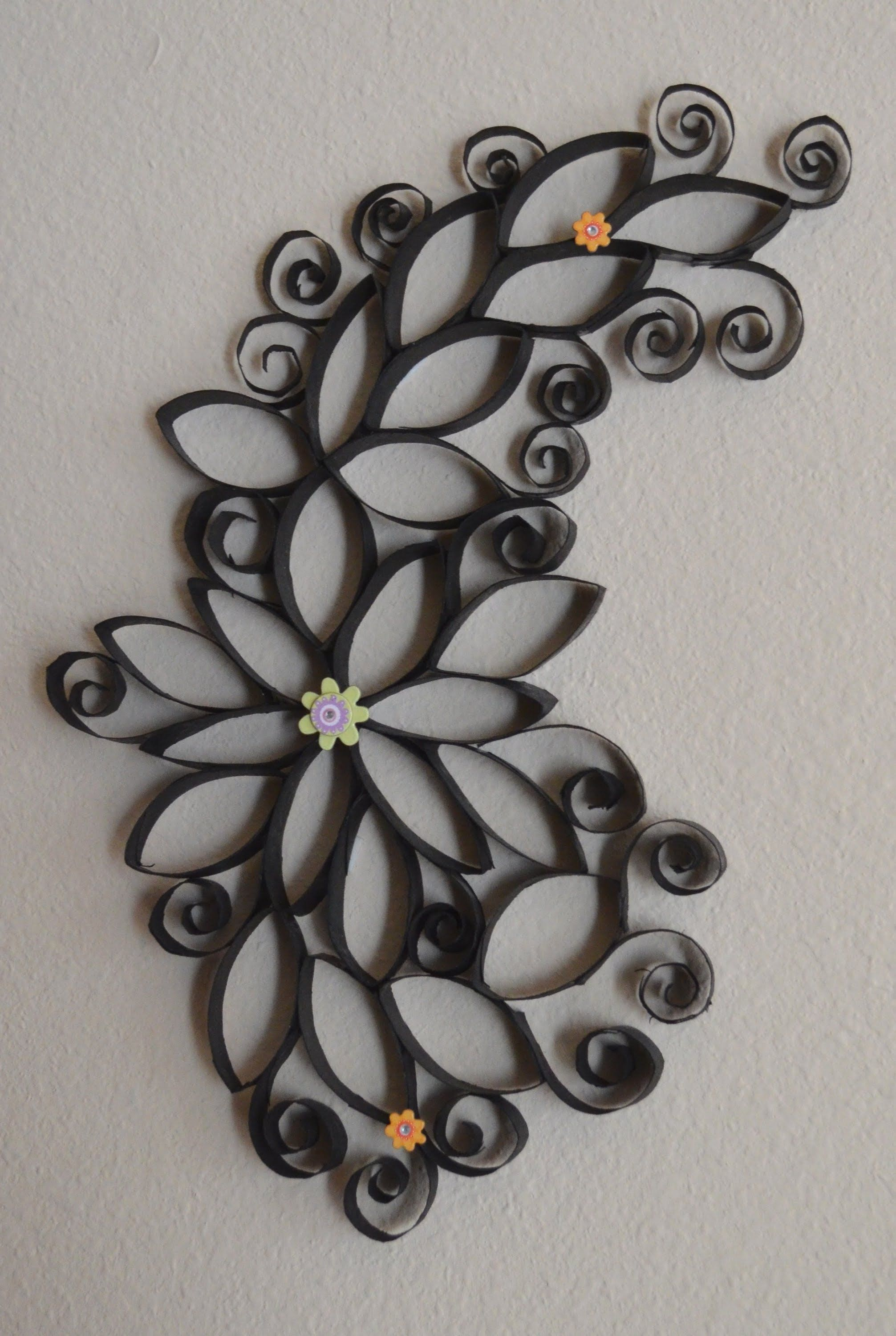 DIY: Cheap, easy, beautiful faux wrought iron wall art! | Re-purpose
