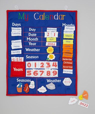 Look what I found on #zulily! Blue & Red 'My Calendar' Wall Hanging Set by Monogrammables by Rosalina #zulilyfinds