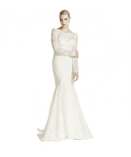 Stunning Off The Rack Wedding Dresses Long Sleeve Wedding Dress Lace Wedding Gown Sizes Ivory Wedding Gown