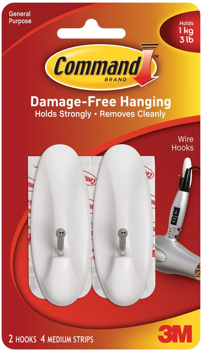Command Medium Wire Hooks, 2-Hook | To Do / Buy List | Pinterest