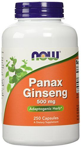 NOW Foods Panax Ginseng 250 Capsules / 500mg