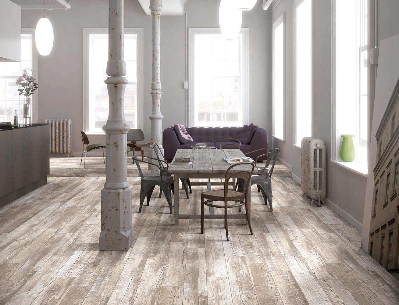 This is Style Selections Natural Timber Whitewash, sold by Lowe's. It comes  in a x size, and features a very rustic, but light color wood look. - This Is Style Selections Natural Timber Whitewash, Sold By Lowe's