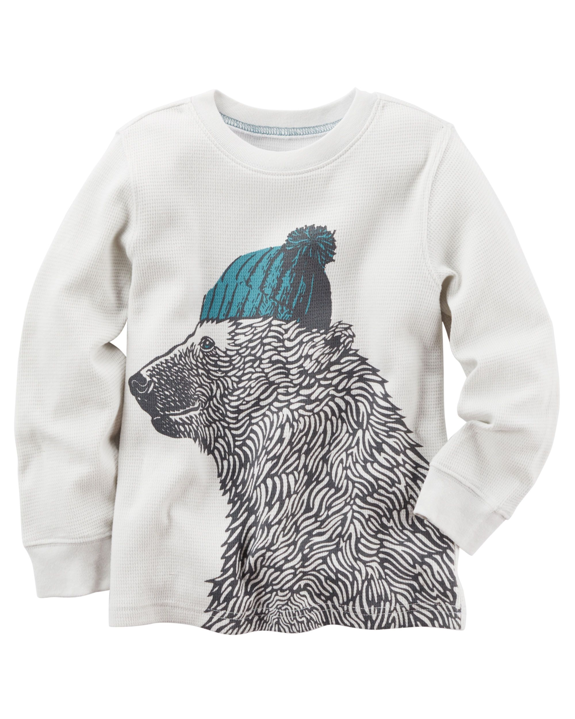 Long Sleeve Bear Graphic Tee Bear Graphic Toddler Boys And Babies