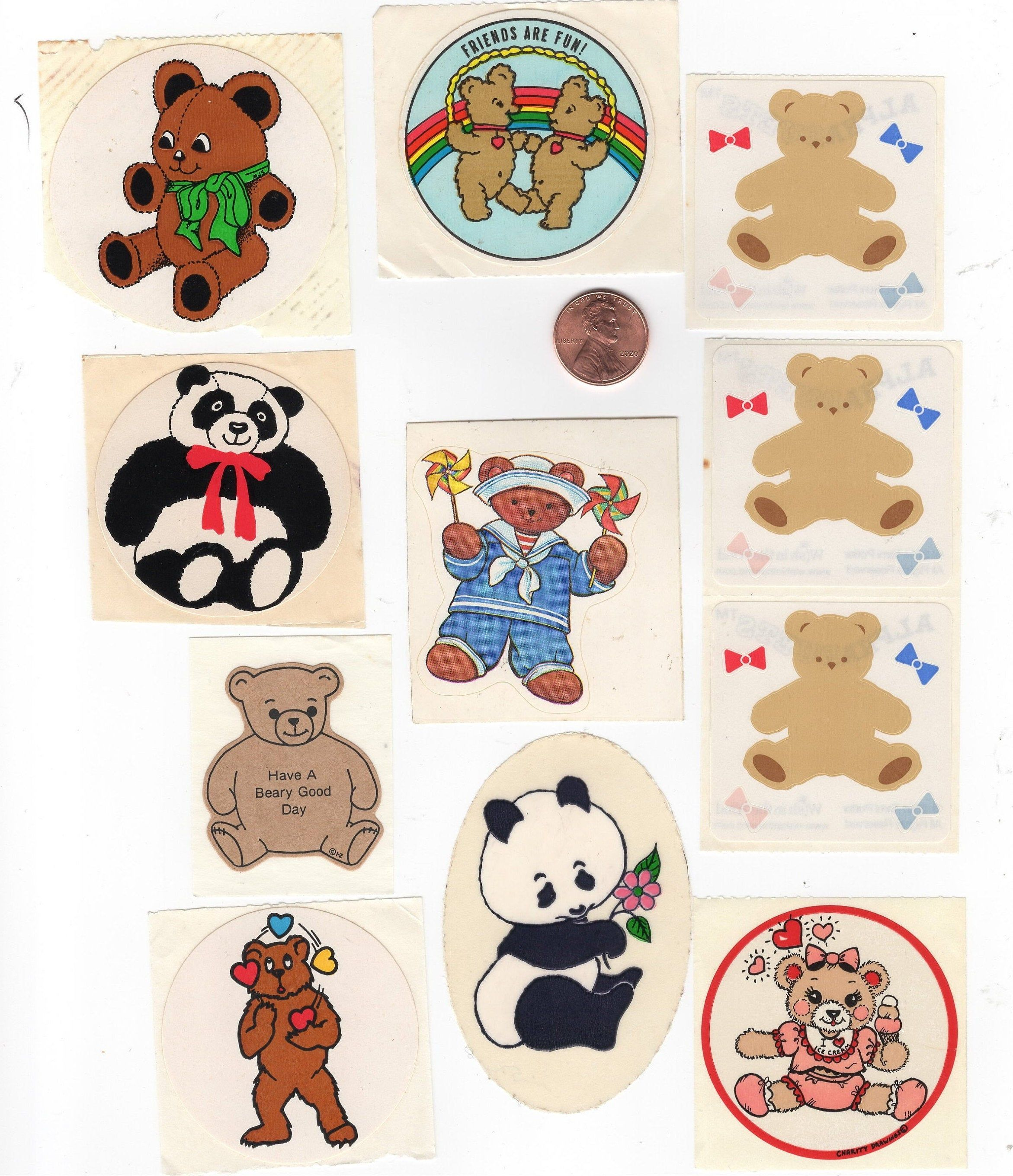 Vintage 1980 S Stickers Collection Lot 2 Teddy Bears Etsy In 2020 Sticker Collection New Sticker Fun Stickers