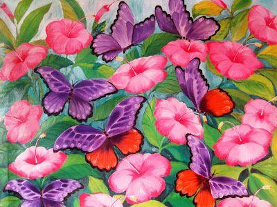 KOKOH: Butterfly 007 (2011) by Hasrul Kokoh: Oil on Canva...