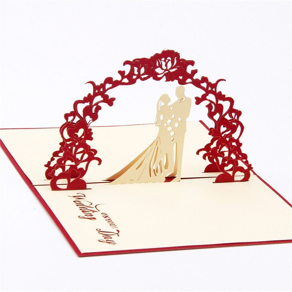 3d Pop Up Engagement Wedding Card Romantic Invitation Card