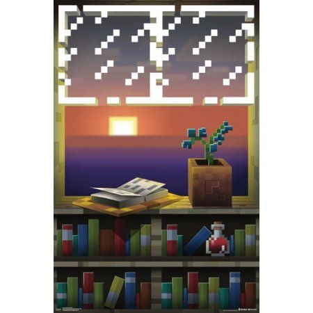 Minecraft Window Poster Print 22 X 34 Walmart Com Window Poster Minecraft Room Minecraft Projects
