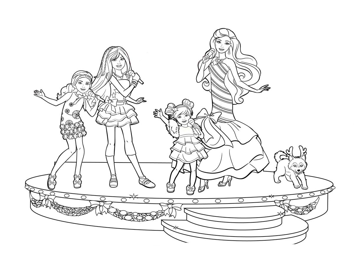 Pin By Thang On Binim Barbie Coloring Pages Coloring Books Barbie And Her Sisters