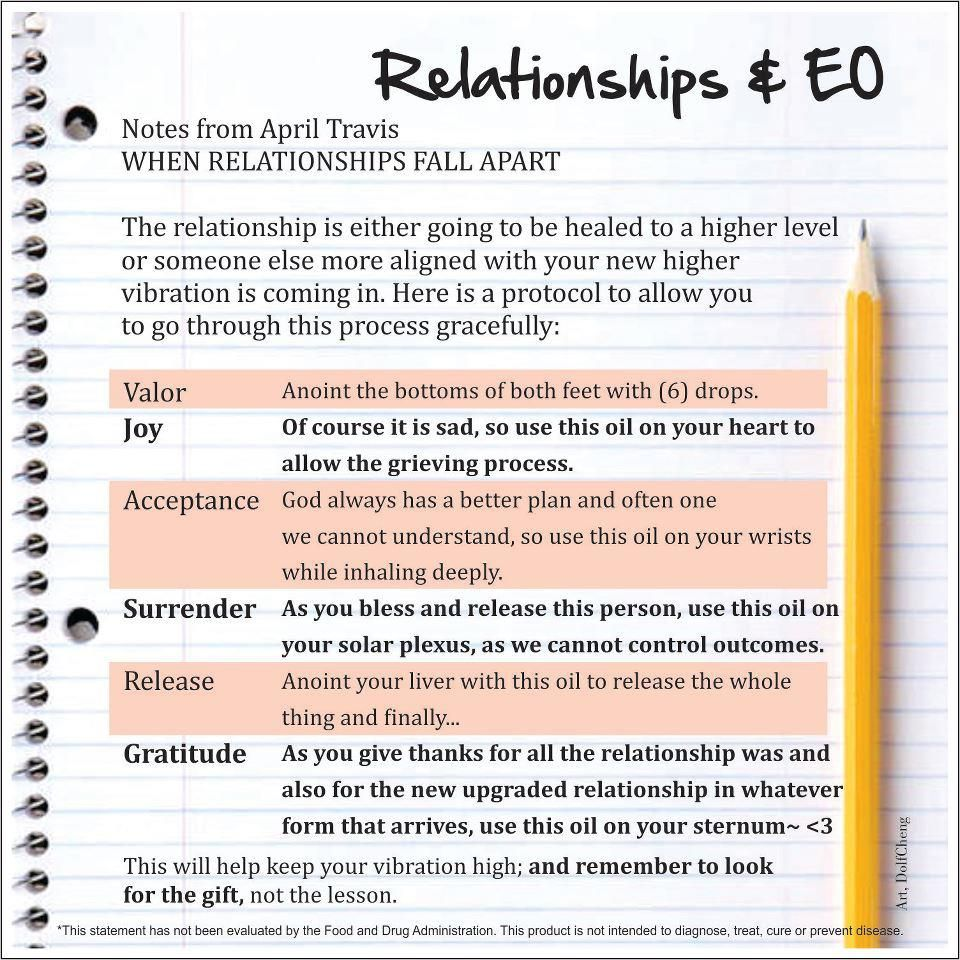 Young Living Essential Oils: Relationships
