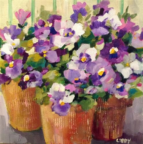 """Daily Paintworks - """"Front and Center"""" - Original Fine Art for Sale - © Libby Anderson"""