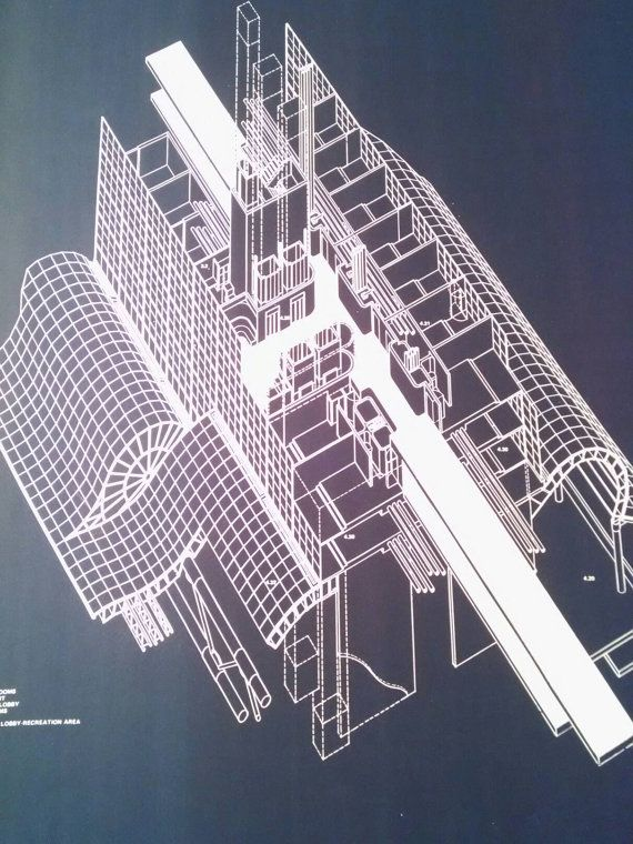 Anthony Lumsden Architectural poster blueprint by YourStyleTwin - new blueprint interior design magazine