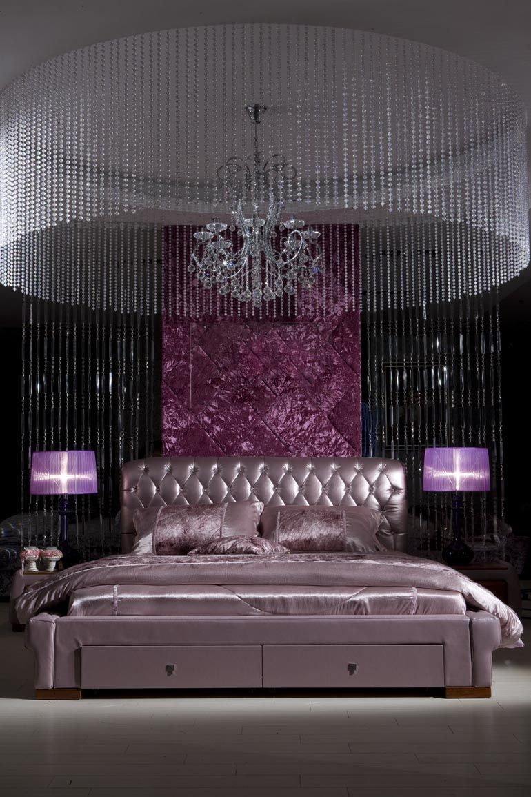 Purple Bedroom Ideas Romantic Bedrooms Pinterest Purple - Purple and black bedroom designs