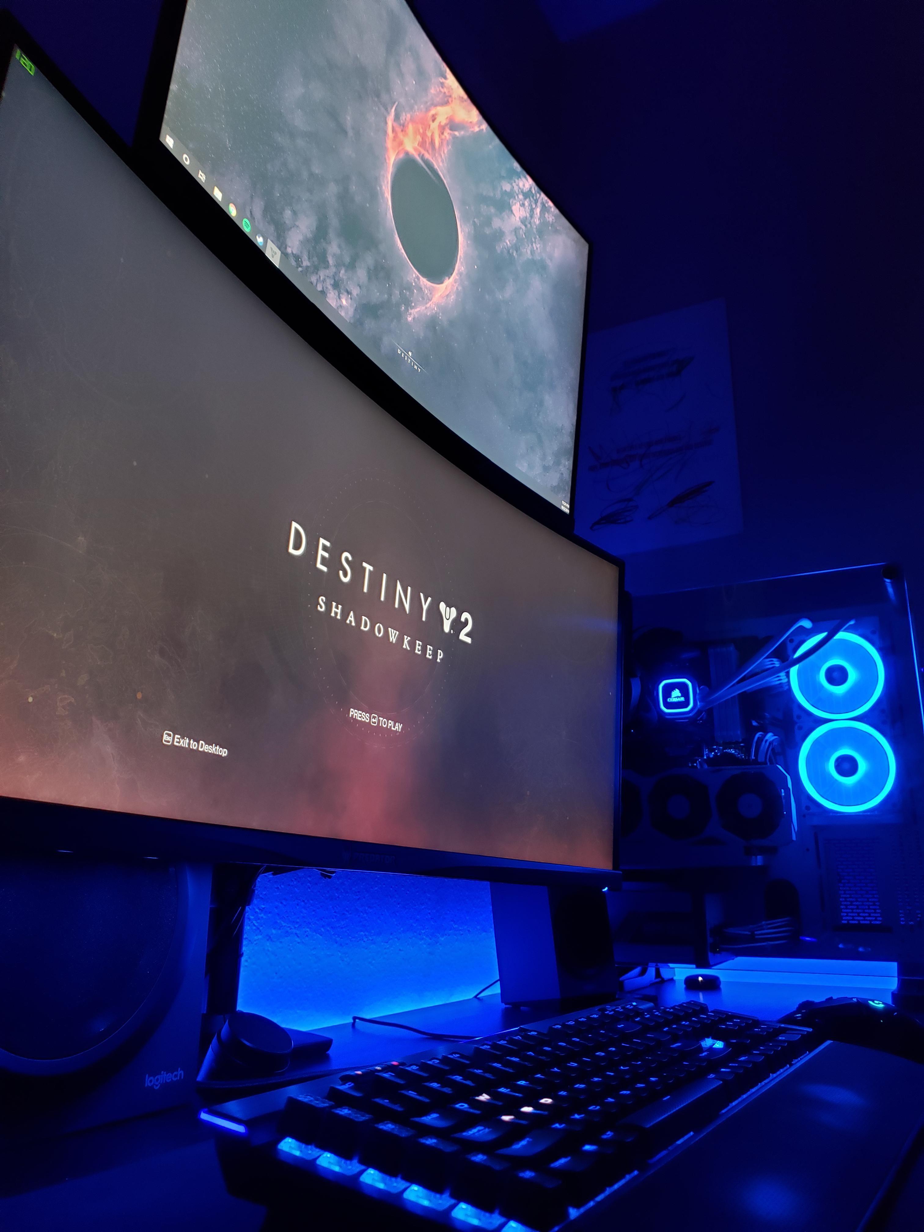 Eyes up Guardian Battlestation, Computer setup