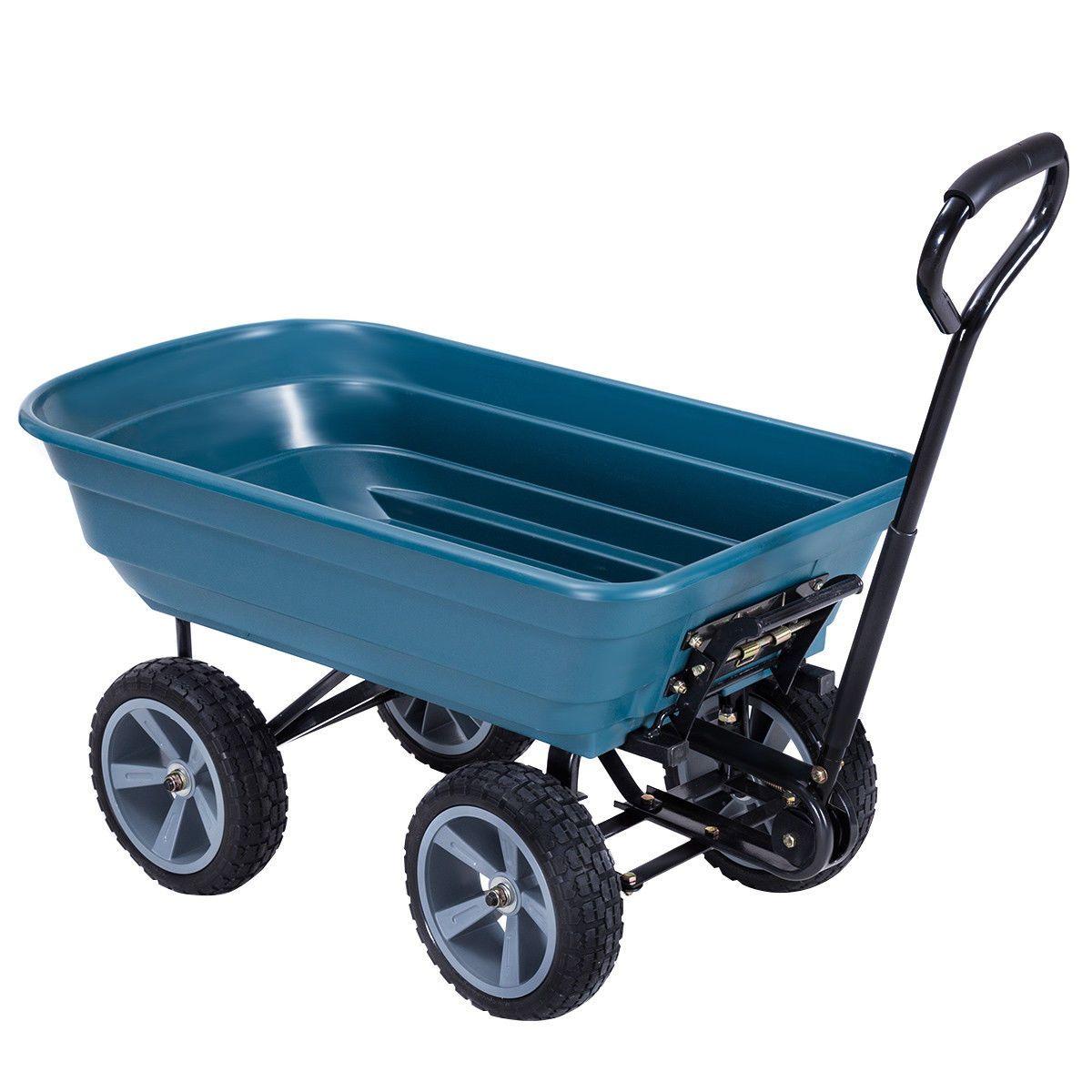 Patio Garden Dump Cart Wheelbarrow Carrier Wheel