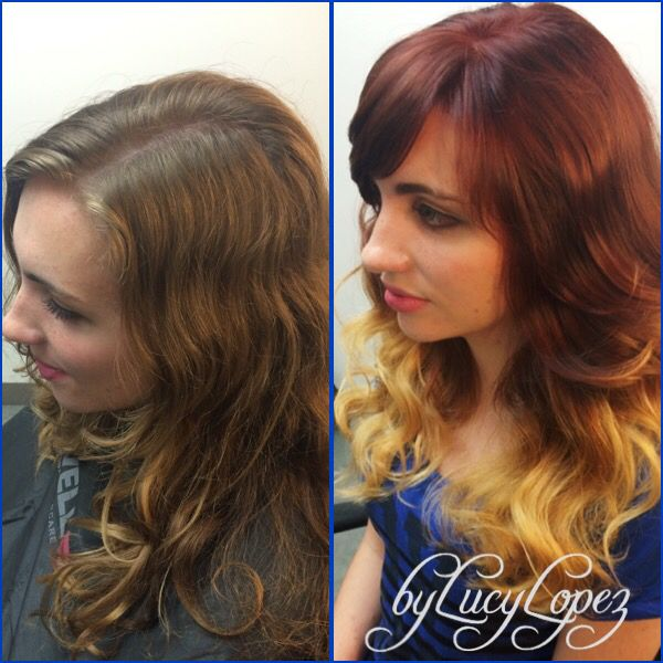 Hair color make over by Lucy Lopez Cleveland Ohio-SalonLofts Westgate