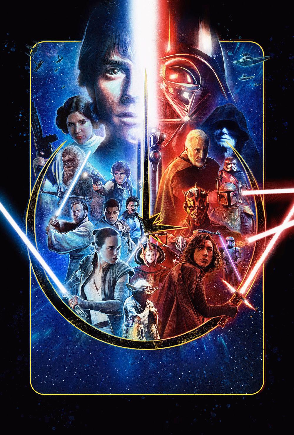 Paul Shipper Studio Star Wars Celebration 2019 Key Art Star Wars Celebration Star Wars Action Figures Star Wars Wallpaper