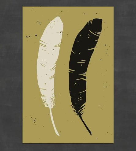 Feather Art Print by The Bungaloo