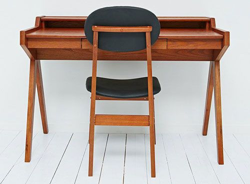 Merveilleux Midcentury Style Danish Writing Desk And Chair At Urban Outfitters
