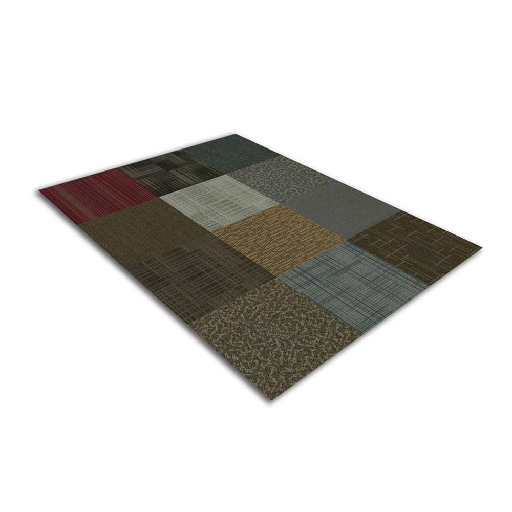 Kaleidoscope Collection Multicolor Assorted Loop Commercial 24 In X 24 In Carpet Tile 12 Tiles Case 4uf12box The Home Depot Carpet Tiles Carpet Carpet Sale
