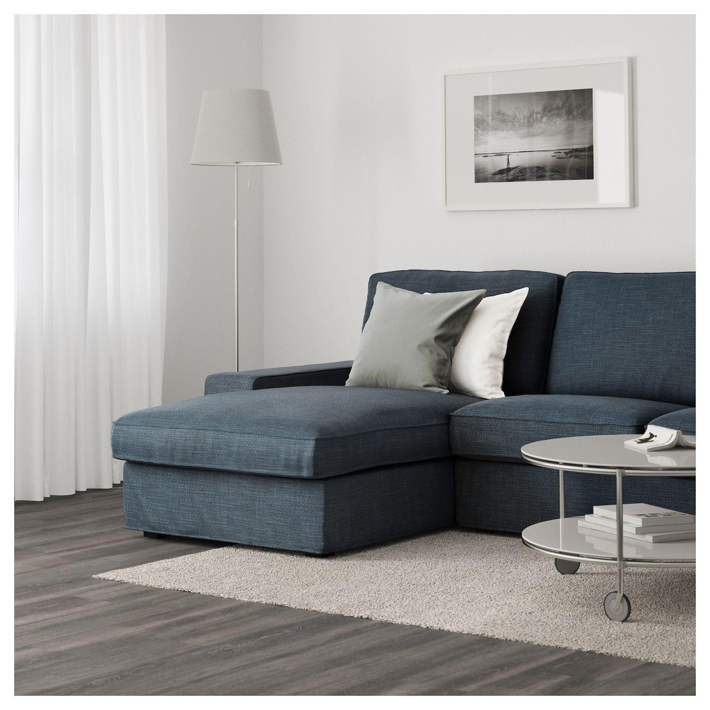 Kivik 3 Seat Sofa Hillared With Chaise Longue Hillared Dark Blue Ikea Austria 3seat Austria Blue Chaise Dark In 2020 Kivik Sofa Ikea Kivik Living Room Designs