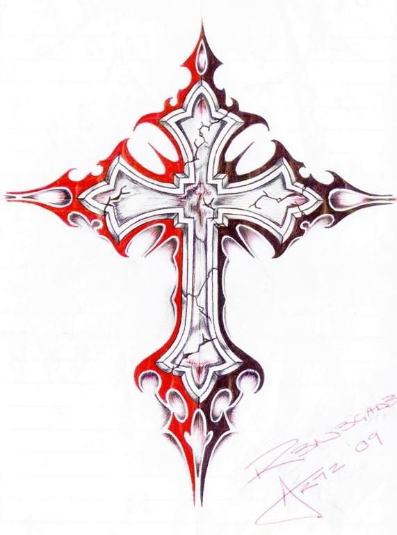 How to draw a cross step by step | art | Pinterest ...