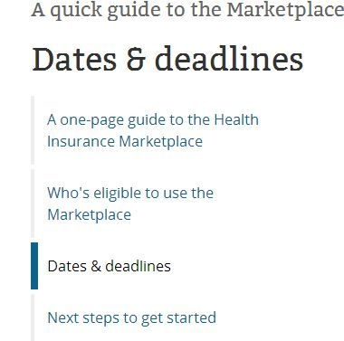 Dates & deadlines for 2015 Health Insurance Marketplace coverage