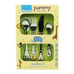 Aterinsetti Amefa Yummy for kids Safari, 4-osainen 24,50€