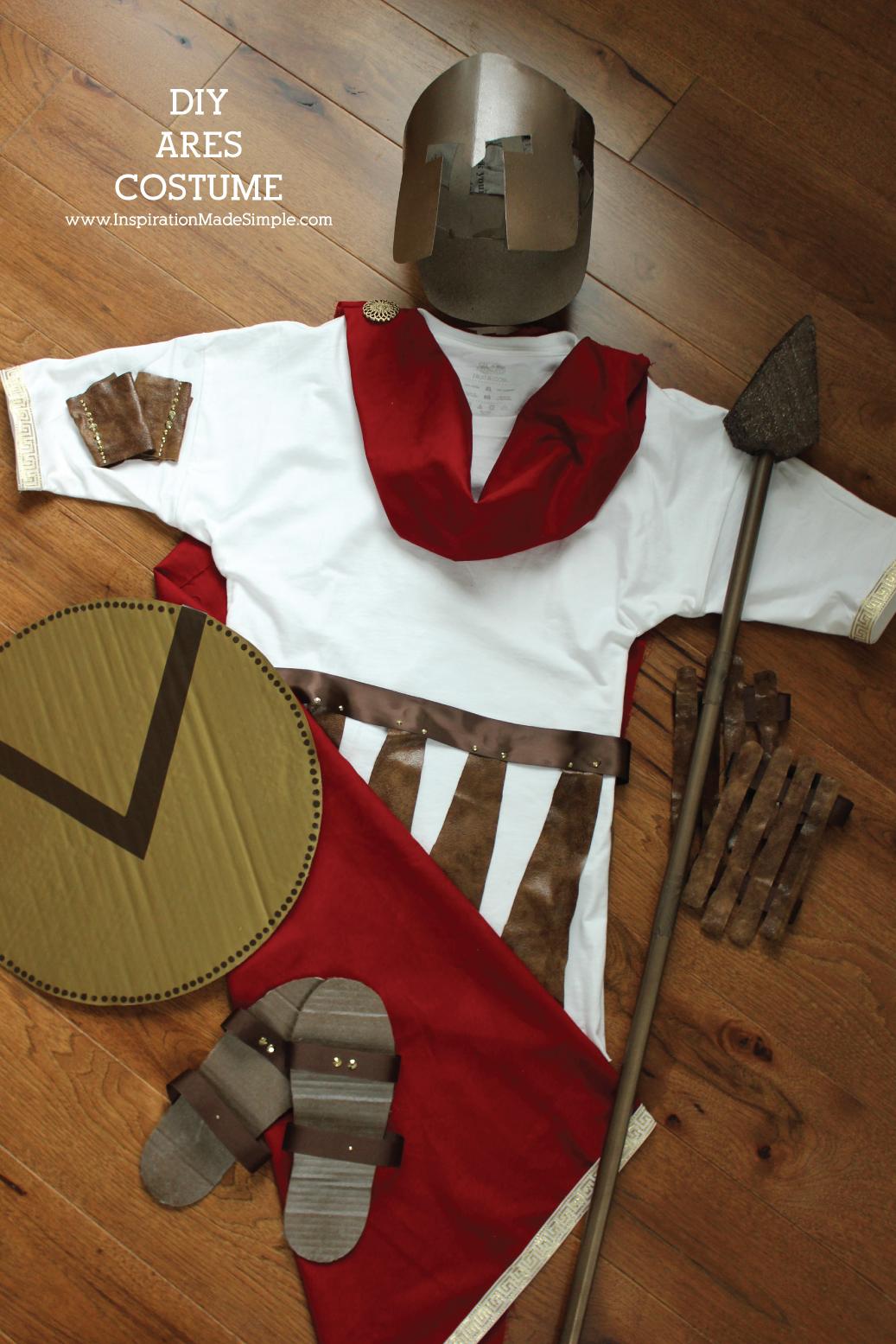 DIY Ares Greek Mythology Costume   Simple Costume For School Greek  Mythology Unit