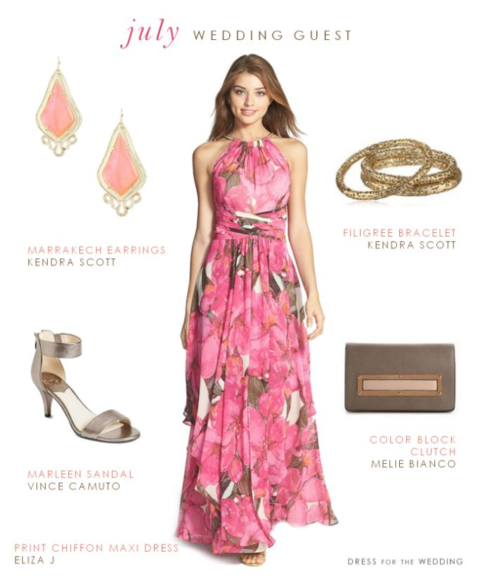 Pink floral summer wedding guest outfit | Dresses | Pinterest ...