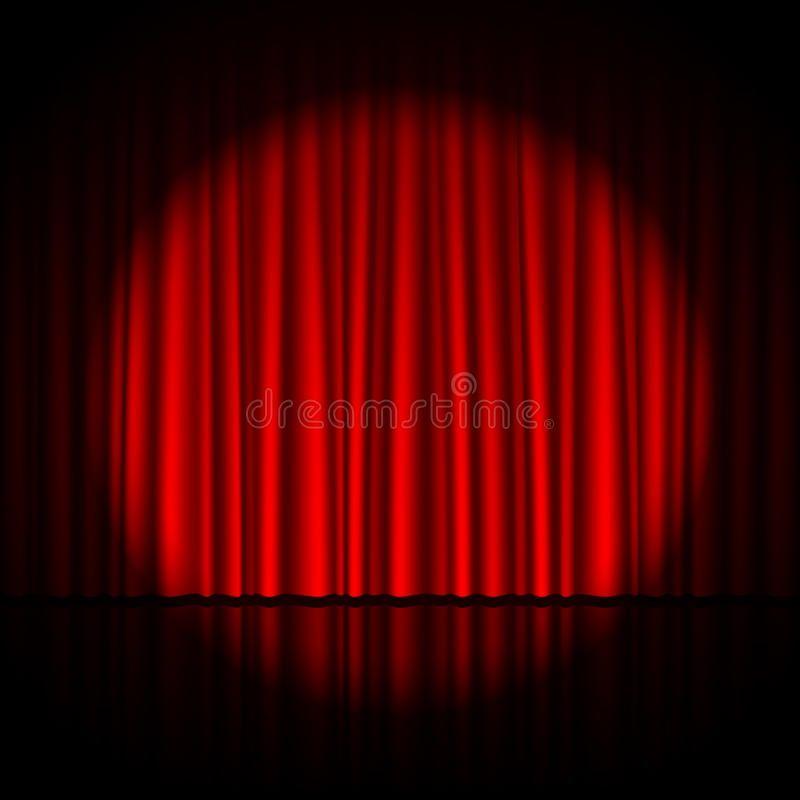 Spotlight On Stage Curtain Vector Illustration Affiliate