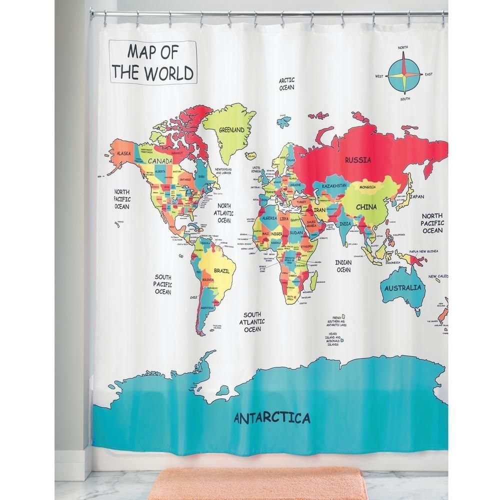 Fabric Shower Curtain World Map Curtains Fabric Shower Curtains World Map Fabric
