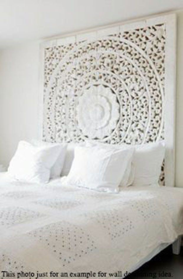 Large Bali Or Thai Carved Wood Wall Art Panel Floral Relief Wall Hanging Decorative A Unique Orienta White Bedroom Design Asian Home Decor Indian Home Decor