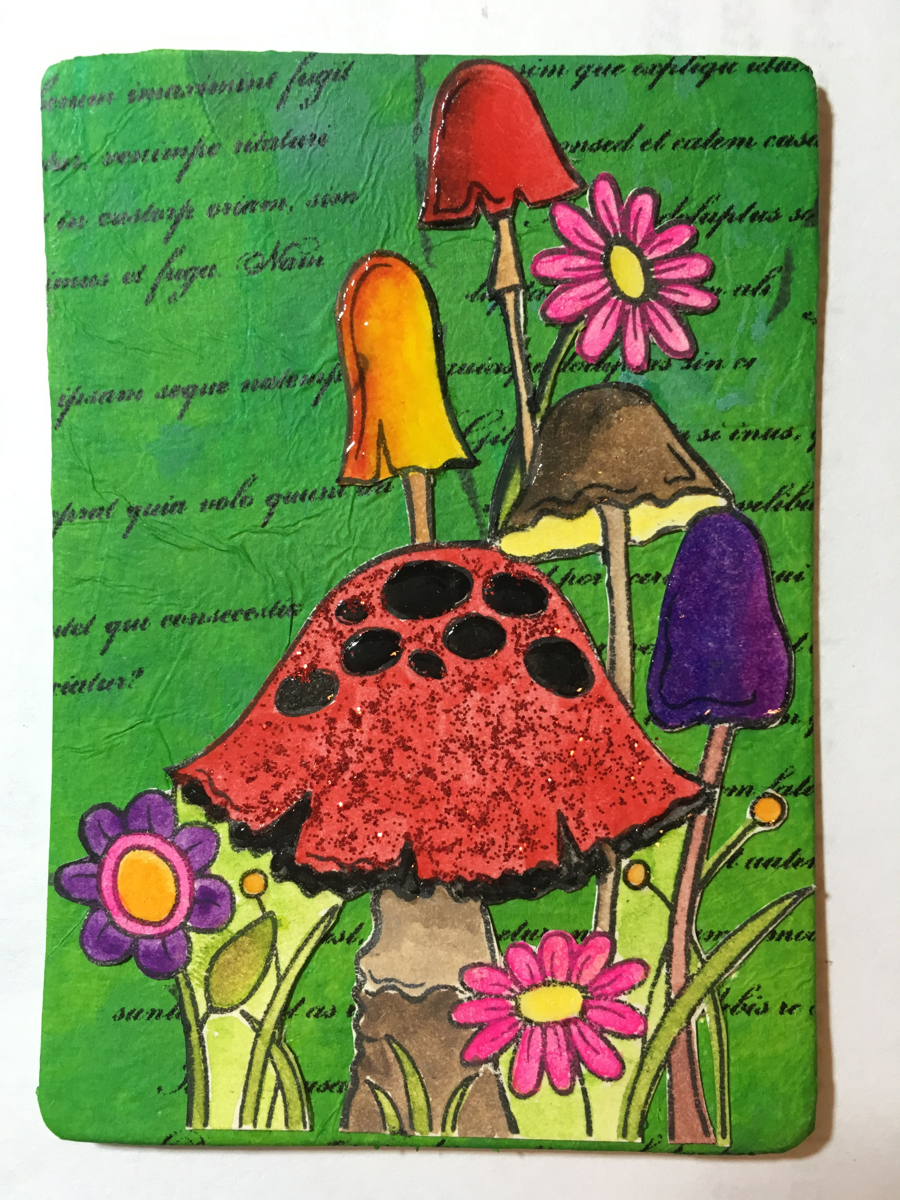 Atc using stamps for uk stampers swap with images