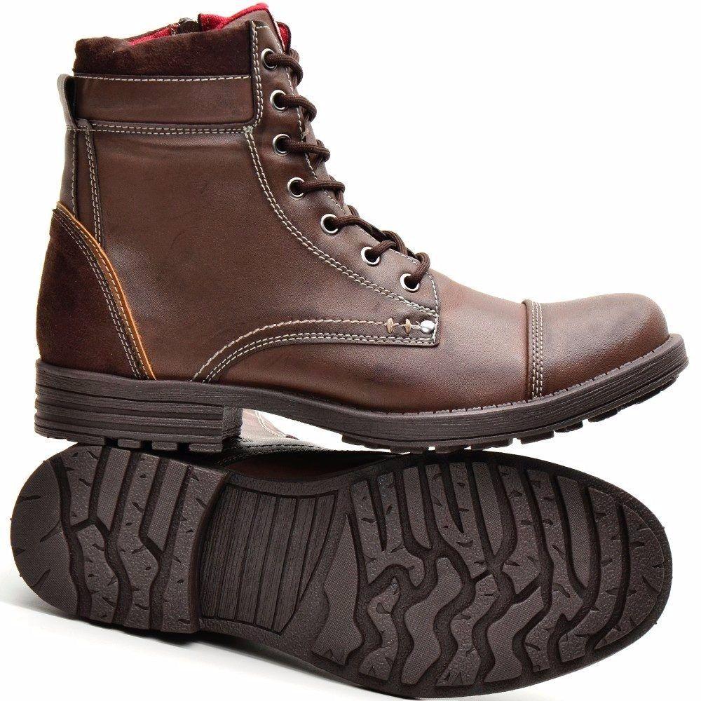 5ac9a6eefe bota coturno casual masculino botinha lançamento dhlcalçados