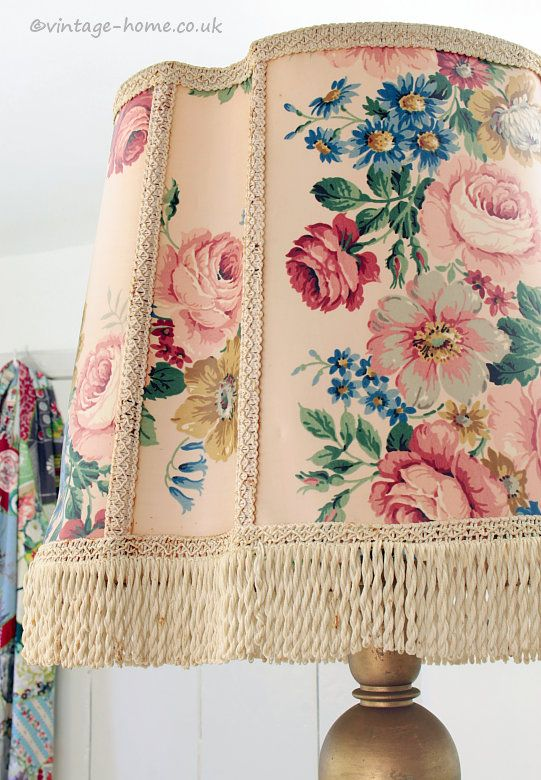 Vintage home shop beautiful vintage floral lamp shade for a captcha english cottagescottage stylechandeliers aloadofball Image collections