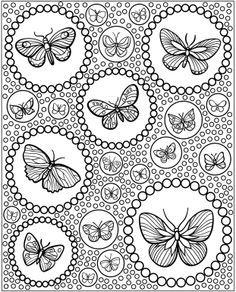 Kleurplaten Kleine Vlinders.Tekenen Voor Volwassenen Grote En Kleine Vlinders Vlinders