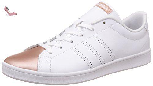 Adidas Advantage Clean Qt W, Sneakers Basses Femme Blanc