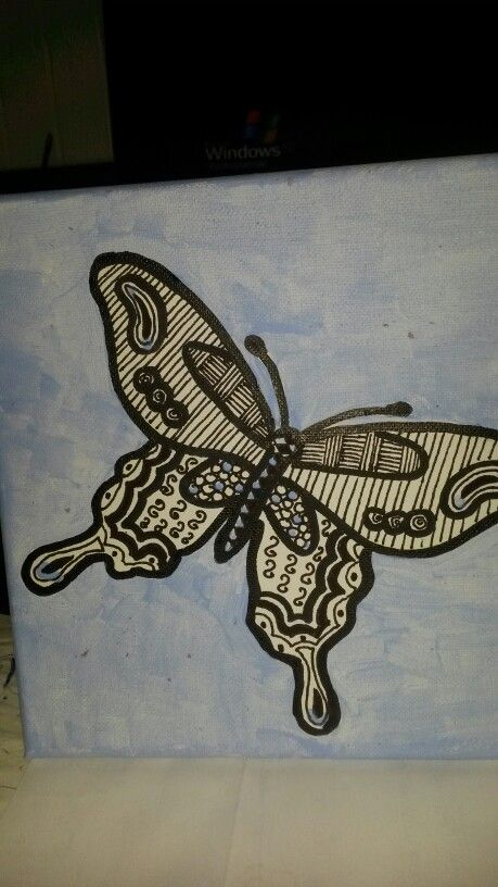 Zentangle vlinder
