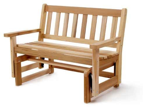cedar glider with room for two!