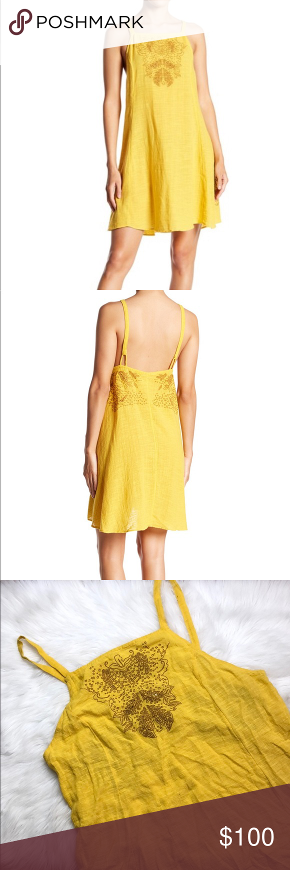 94561502d489c FREE PEOPLE TULUM CUT WORK EMBROIDERED SLIP DRESS Contemporary, cute and  brand new! No