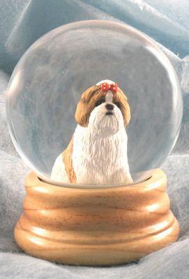 Shih-Tzu Dog Photo Snow Globe Waterball Stocking Filler Gift AD-SZ3GL