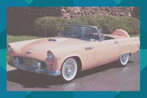 1956 Ford Thunderbird My Dream Car Give Me Pink Or Sunset Coral Please With The Continental Kit Ford Thunderbird Thunderbird Car Ford Classic Cars