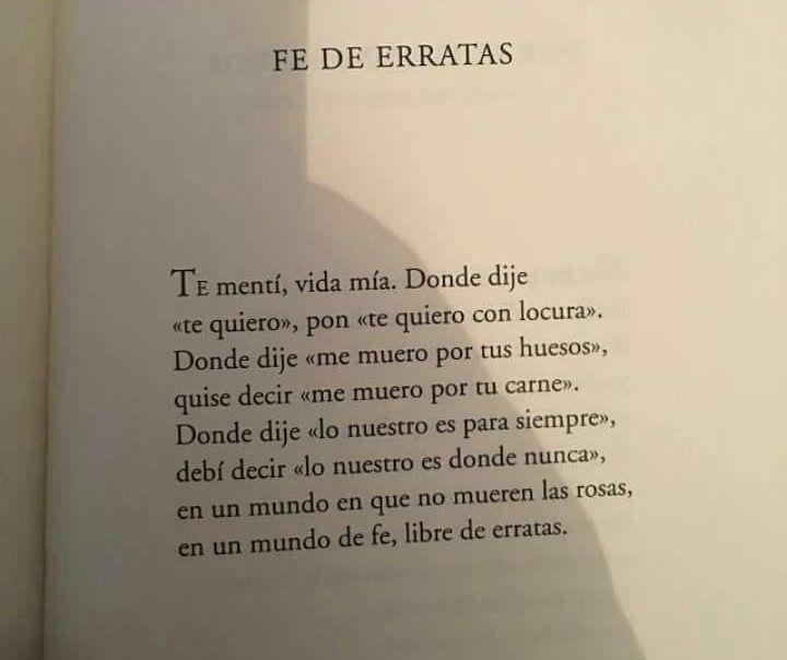 """Versos De Libros: Fe De Erratas (""""Su Nombre Era El De Todas Las Mujeres Y"""